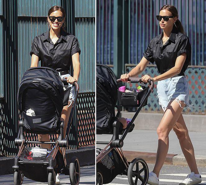 Cô cũng dành thời gian bên con gái 2 tuổi Lea. Irina thường đưa con dạo phố, ra công viên vui đùa như những bà mẹ bình thường khác.