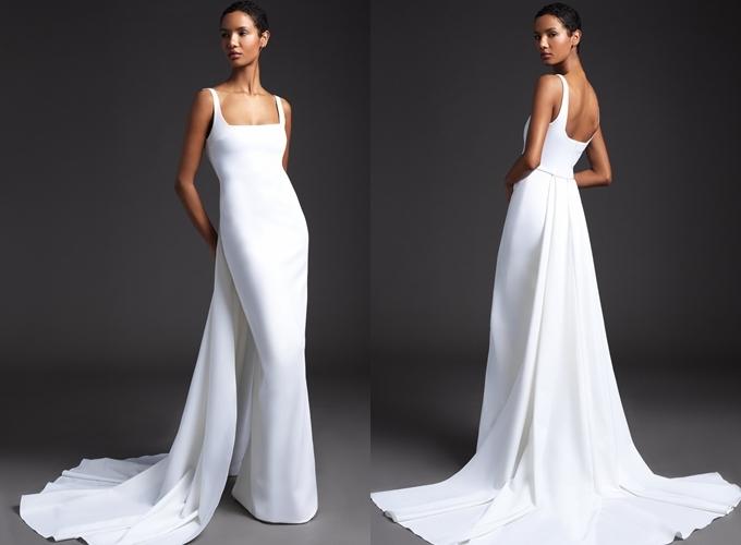 Hình ảnh giới thiệu váy Ana trong bộ sưu tập của Cushnie Bridal.