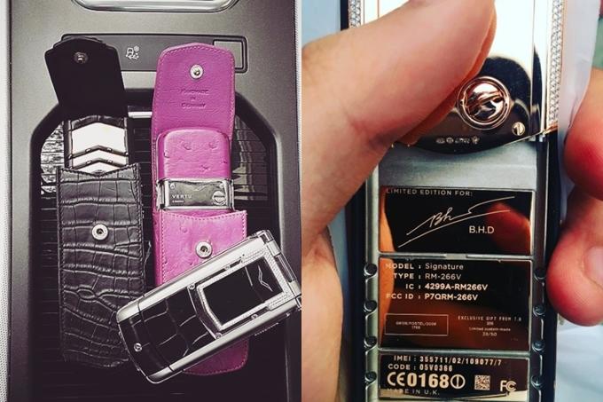 Điện thoại Vertu phiên bản giới hạn có khắc tên Dương Bảo Hưng.