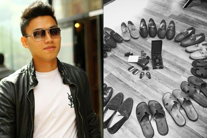 Bạn trai tin đồn của Hoa hậu Đỗ Mỹ Linh có gu thời trang lịch lãm, sang trọng. Anh khoe bộ sưu tập giày Hermes và nhiều trang phục hàng hiệu trên trang cá nhân.
