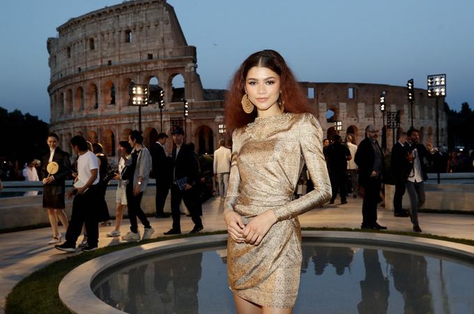 Đây là lần đầu tiên Zendaya tới thành phố nổi tiếng của Italy.