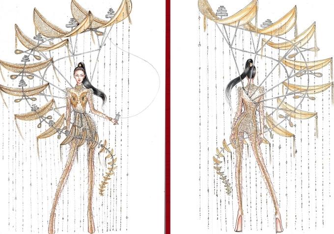 Bàn thờ lọt top 18 trang phục dân tộc cho Hoàng Thùy thi Miss Universe - 6