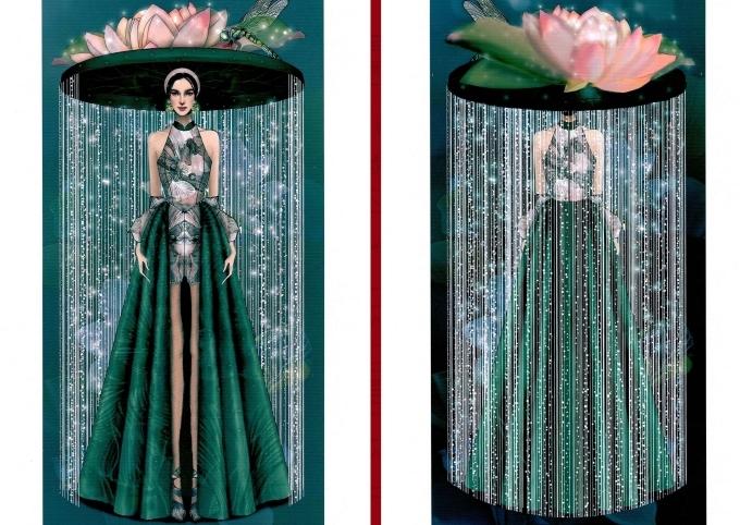 Bàn thờ lọt top 18 trang phục dân tộc cho Hoàng Thùy thi Miss Universe - 3