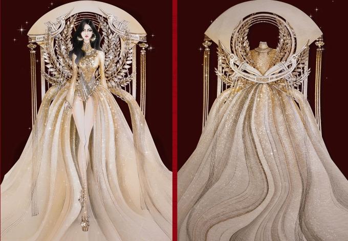 Bàn thờ lọt top 18 trang phục dân tộc cho Hoàng Thùy thi Miss Universe - 2