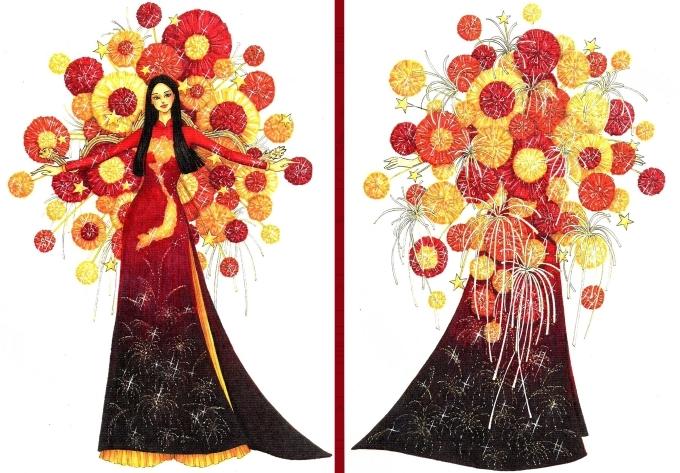 Top 18 trang phục dân tộc cho Hoàng Thùy thi Miss Universe - 1