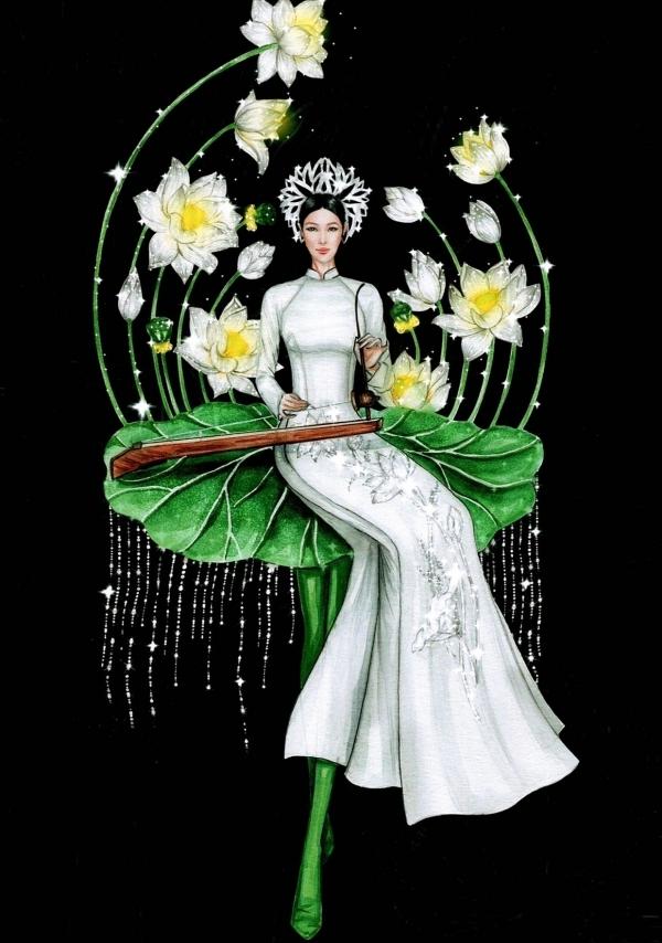 Top 18 trang phục dân tộc cho Hoàng Thùy thi Miss Universe - 4