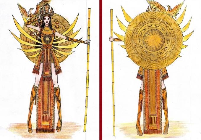 Bàn thờ lọt top 18 trang phục dân tộc cho Hoàng Thùy thi Miss Universe - 4
