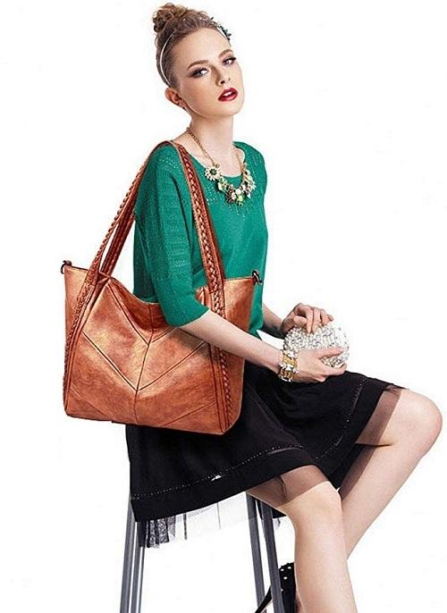 Túi xách Vegan phù hợp cho các tín đồ yêu thích phong cách dịu dàng.