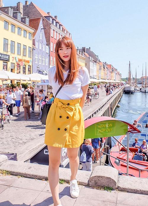Minh Hằng ăn ngập mặt trong chuyến du lịch Đan Mạch