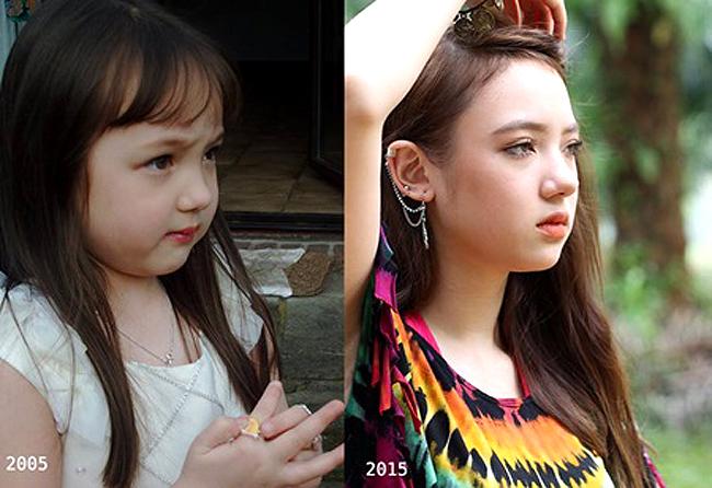 Hình ảnh thơ ấu của nữ ca sĩ người Thái Lan Jannine Weigel nghệ danh Ploychompoo) được chia sẻ trên mạng xã hội và khiến khán giả thích thú. Mang trong mình dòng máu lai Thái Lan - Đứcnên cô bé rất xinh xắn, đáng yêu, điểm nổi bật là chiếc mũi cao và đôi mắt xanh trong veo.