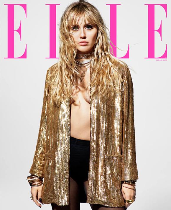 Miley trên tạp chí Elle.