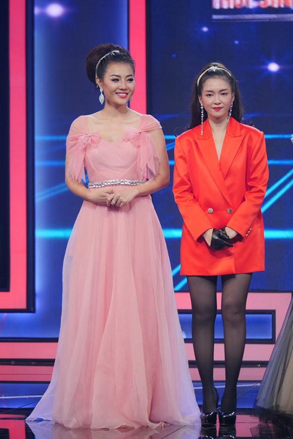 Thanh Hương và Đinh Hương tại đêm chung kết Trời sinh một cặp.