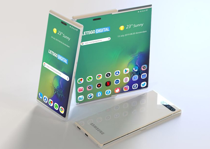 Lộ bằng sáng chế smartphone màn hình co giãn của Samsung - 1