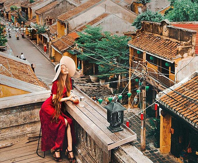 Bức ảnh của blogger du lịch gốc Việt Sarah Trần chụp trong một lần về thăm quê.