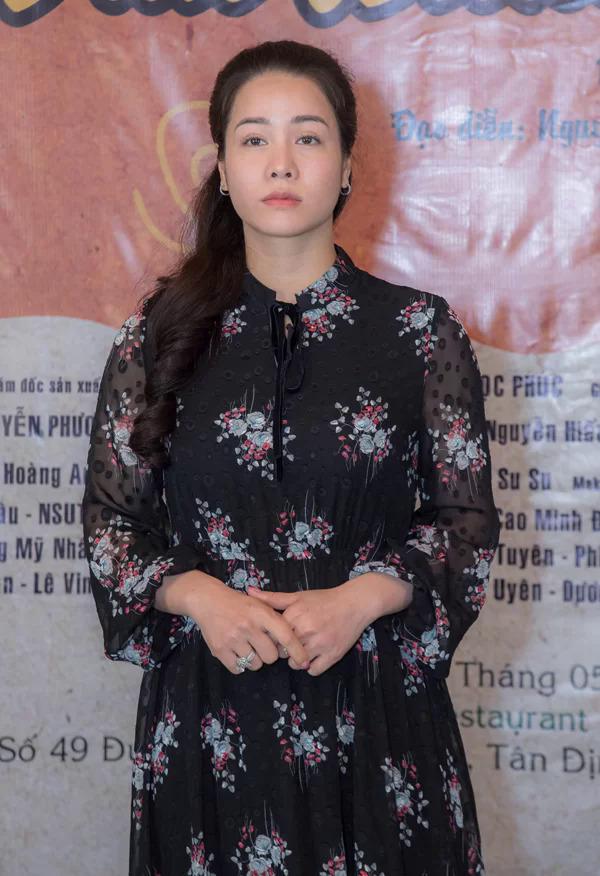 Nhật Kim Anh tại buổi công bố dự án phim truyền hình Vua bánh mì  hồi tháng 6/2019.