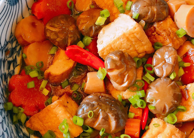 Nấm đùi gà kho đậu hũ - 1