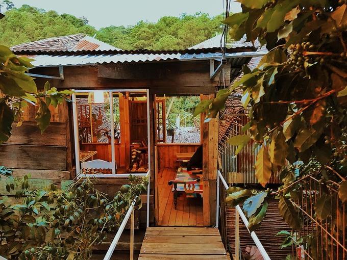 Homestay nằm chơi vơi trên lưng chừng núi ở Đà Lạt