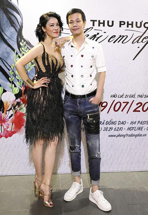 Hoàng Hải cũng có mặt tại chương trình để cổ vũ cho nữ ca sĩ.