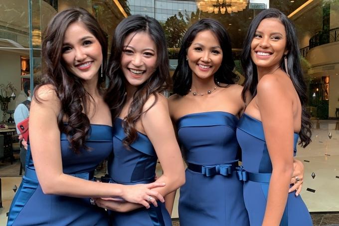 Ngoài HHen, các Hoa hậu Indonesia - Sonia Fergina Citra, Hoa hậu Trung Quốc - Tần Mỹ Tô, Hoa hậu Nam Phi -