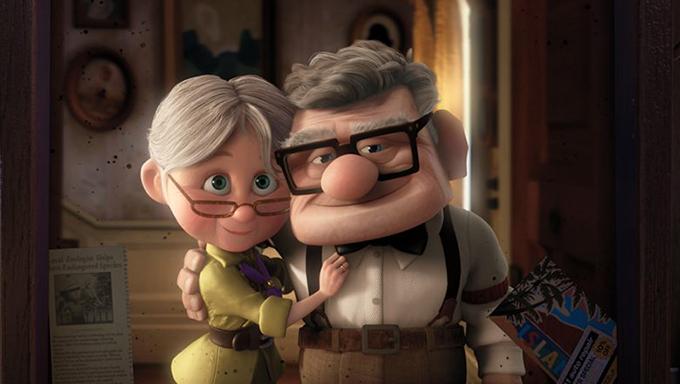 Vợ chồng Carl và Ellie cùng nhau trưởng thành và già đi.