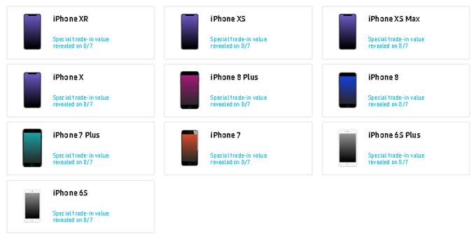 Các dòng iPhone từ 6S đều có thể đổi lên Galaxy Note 10.
