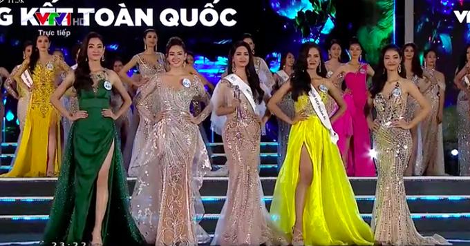 Top 5 của Hoa hậu Thế giới Việt Nam 2019 bao gồm: Lương Thuỳ Linh, Nguyễn Tường San, Nguyễn Hà Kiều Loan, Dương Thị Ngọc Thoa và Nguyễn Thị Thu Phương.