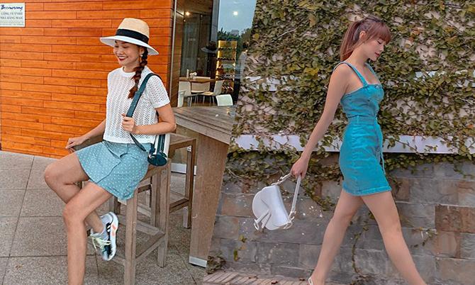 Kết quả hình ảnh cho Sao Việt chọn váy ngắn tôn chân thon
