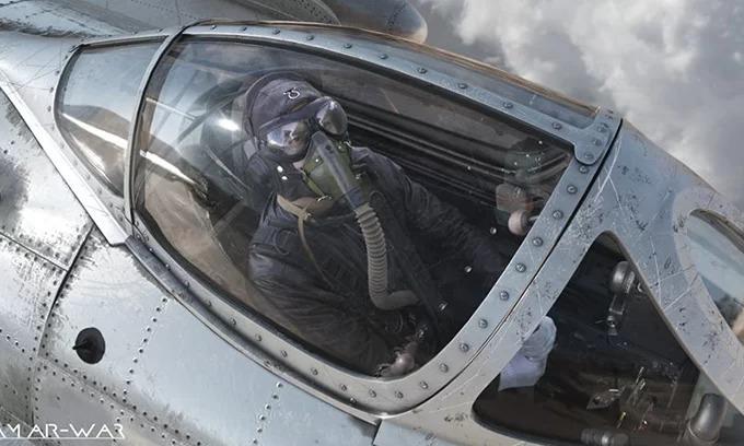 Hình ảnh chiến sĩ Không quân Nhân dân Việt Nam được tái hiện trong phim.