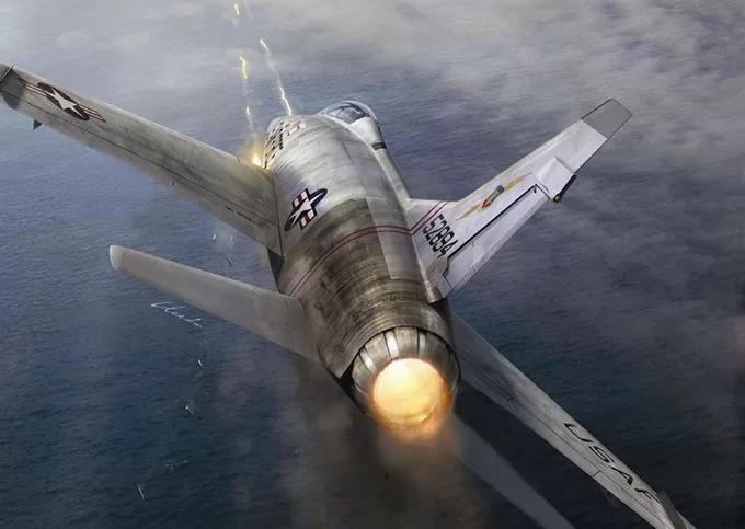 Một máy bay tham chiến của Mỹ.