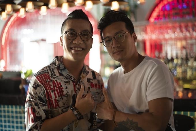 Hoàng Rapper và đạo diễn Tùng Phan.
