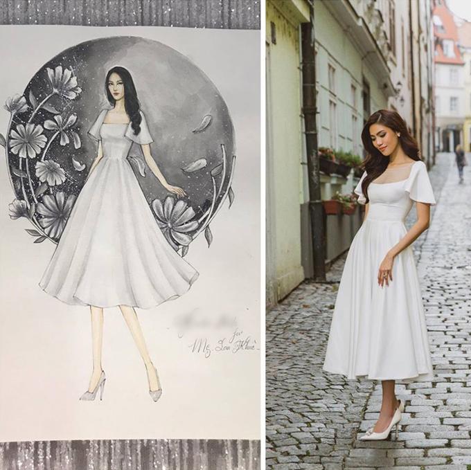 Mẫu đầm lấy cảm hứng từ váy xòe của công chúa trong truyện cổ tích nhưng mang dáng ngắn, giúp cô dâu dễ dàng di chuyển. Váy được bán với giá 1,8 triệu đồng.
