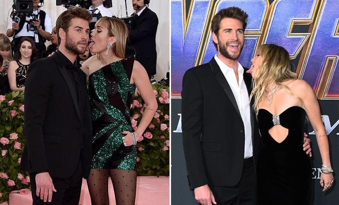 Miley liếm chồng trên thảm đỏ Met Gala 2019 và tại lễ ra mắt phim Avengers: Endgame.