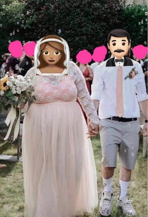 Chú rể bị chỉ trích vì diện quần short, giày sneaker trong hôn lễ