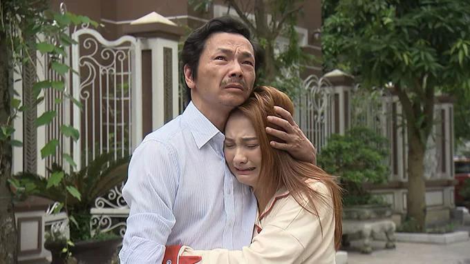 Nghệ sĩ Trung Anh trong phim Về nhà đi con.