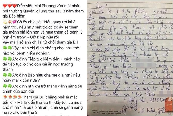 Bức thư giả mạo Mai Phương.