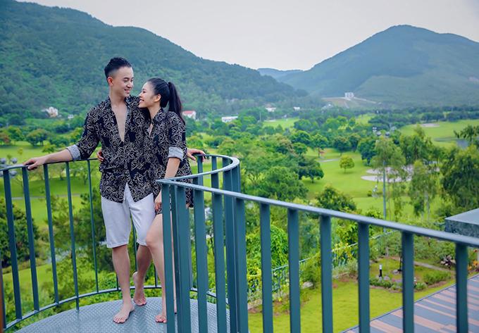 Hoàng Annh Vũ và bạn gái hiện tại.
