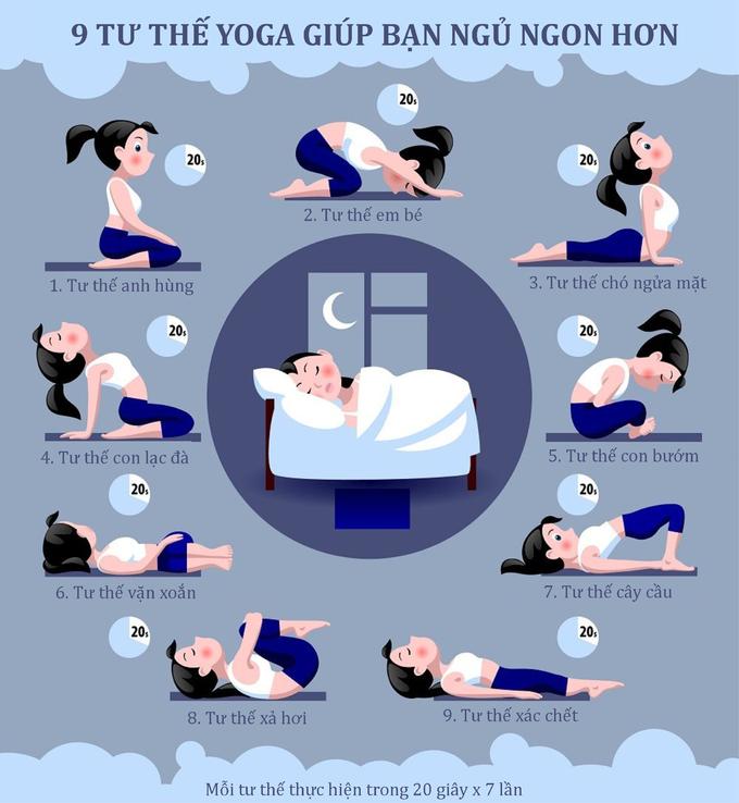 9 tư thế yoga giúp bạn ngủ ngon hơn