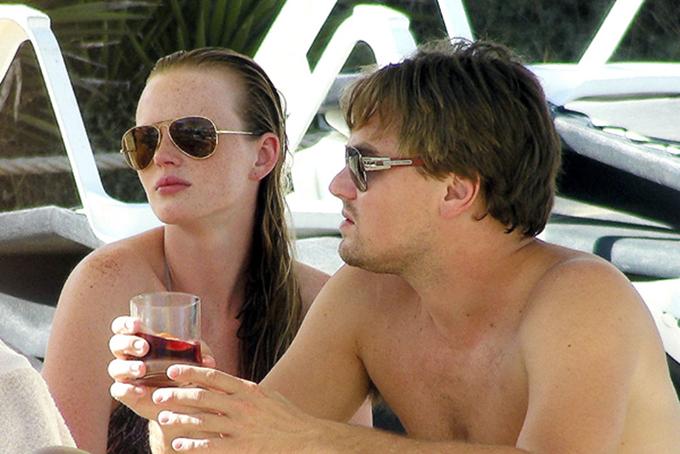 Giữa một khoảng đổ vỡ với Bar Rafaeli, Leo hẹn hò chớp nhoáng với thiên thần nội y người Nga Anne Vyalitsyna hồi 2009.