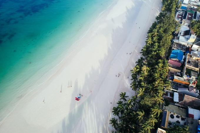 Một đoạn bãi biển Boracay, Philippines. Ảnh:CRISTINA MENINA.