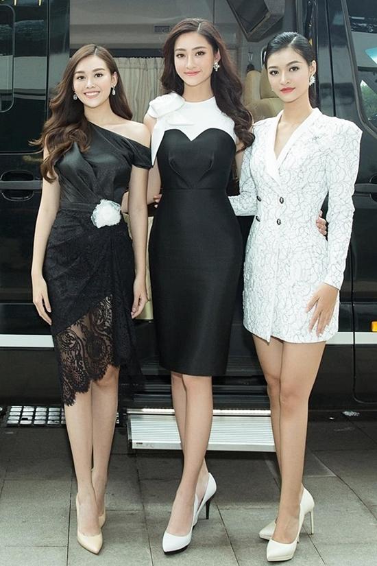 Phong cách của Hoa hậu Lương Thùy Linh và hai Á hậu sau đăng quang - 2