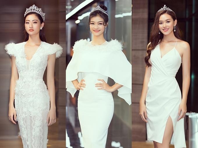 Phong cách của Hoa hậu Lương Thùy Linh và hai Á hậu sau đăng quang - 1