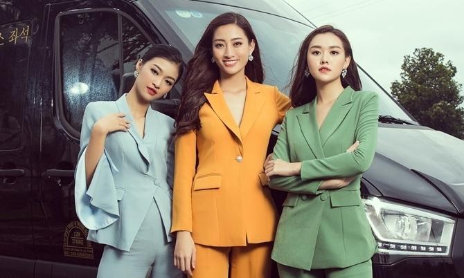 Phong cách thời trang của Hoa hậu Lương Thùy Linh và hai Á hậu