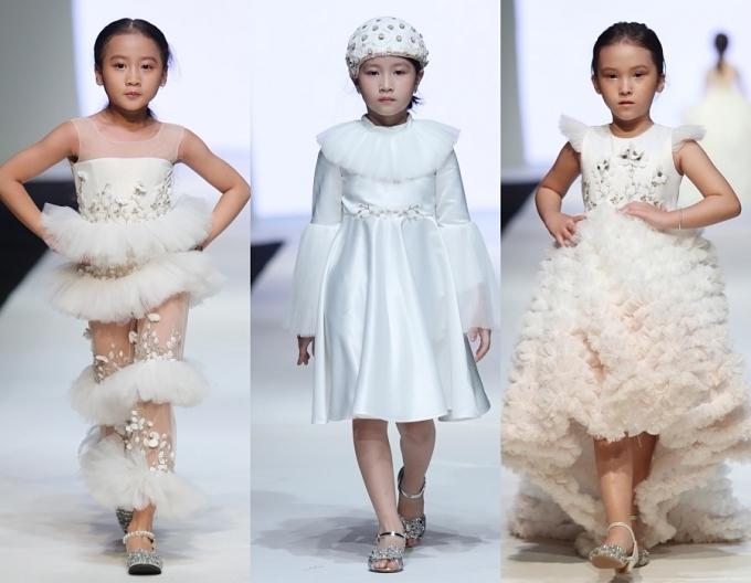 Con gái Xuân Lan, bản sao nhí Hồ Ngọc Hà trình diễn thời trang - 5