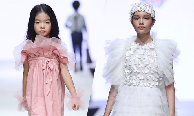 Con gái Xuân Lan, 'bản sao nhí' Hồ Ngọc Hà trình diễn thời trang