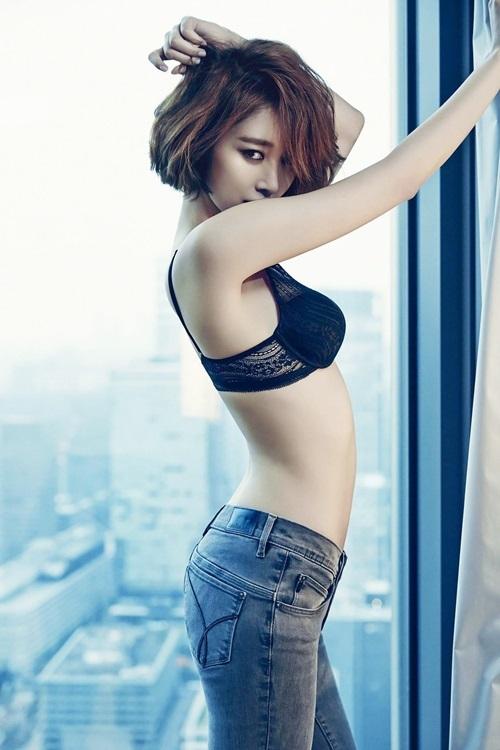 Nữ hoàng tóc ngắn Hàn Quốc tôn hình thể - 2