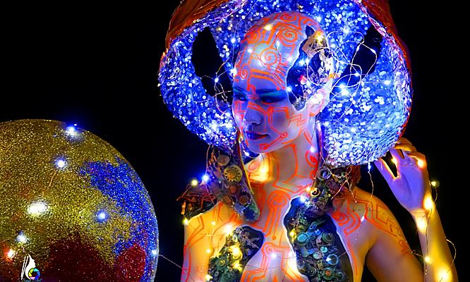 Nghệ thuật vẽ cơ thể, hóa trang thỏa mãn trí tưởng tượng