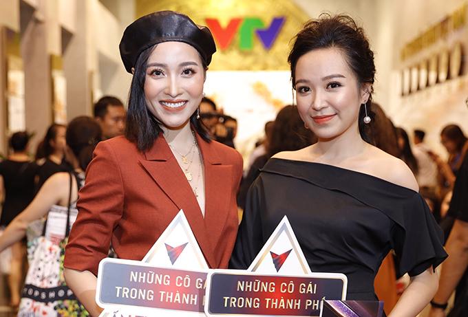 Mai Anh và Kim Oanh - hai diễn viên chính của phim truyền hình Những cô gái trong thành phố.