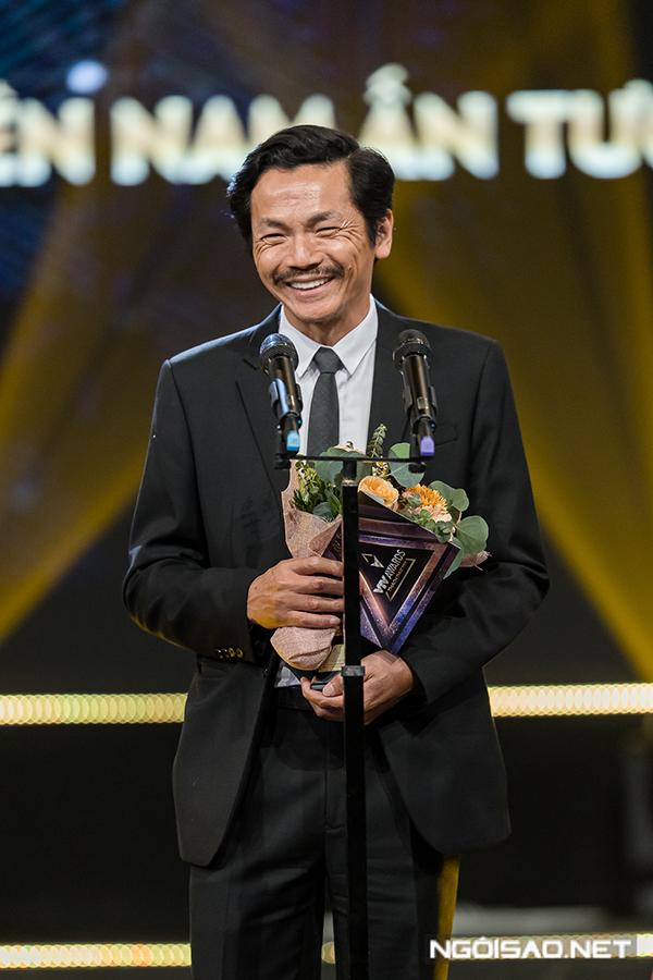 Trước khi buổi trao giải diễn ra, nhiều nghệ sĩ đã dự đoán chiến thắng sẽ thuộc về NSND Trung Anh. Đây là niềm vui nhân đôi với diễn viên Trung Anh bởi cách đây ít ngày, ông vừa được Nhà nước trao danh hiệu Nghệ sĩ Nhân dân.