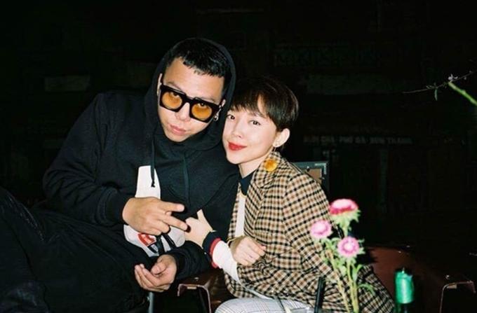 Tóc Tiên và bạn trai Hoàng Touliver.