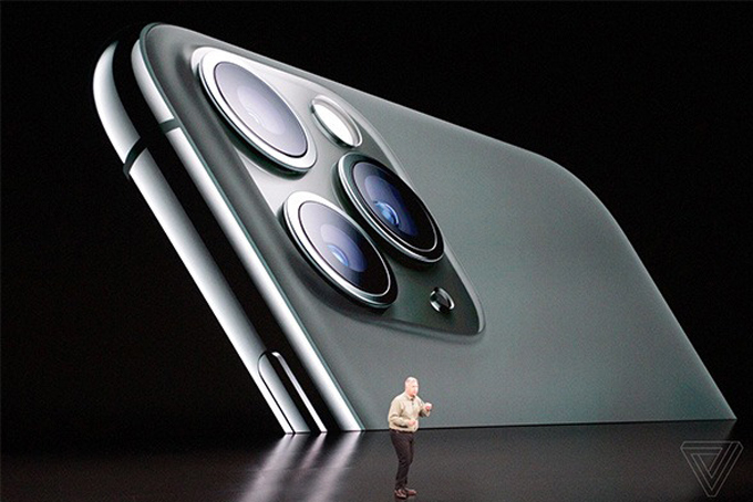 Cụm camara mới của model iPhone 11 Pro. Ảnh: The Verge.